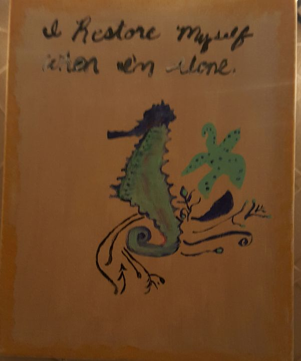 Seahorse - Calming canvas art work