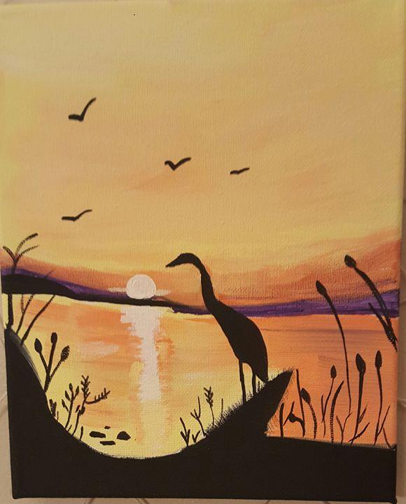 Sumner haze - Calming canvas art work