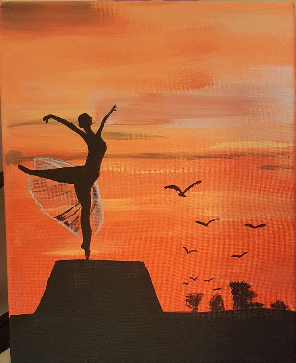 Graceful - Calming canvas art work