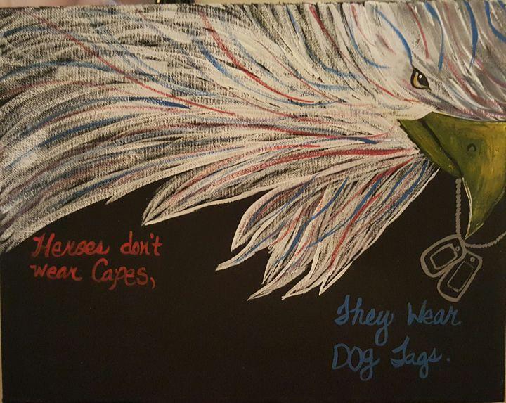 Patriotic - Calming canvas art work