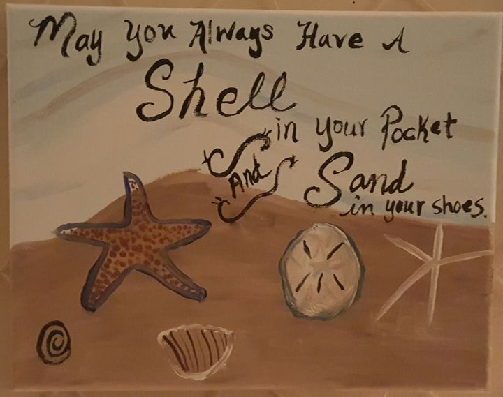 Shells - Calming canvas art work