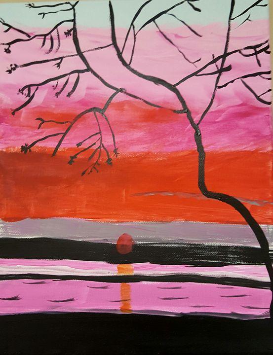 Peaceful feeling - Calming canvas art work