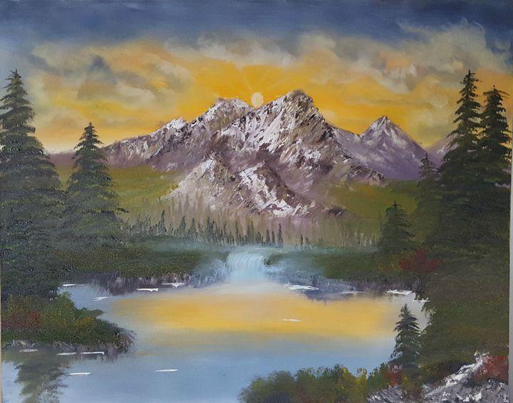 Lake in the Morning Glow - Star's Art