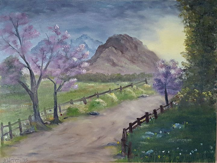 Early Morning Spring Path - Star's Art