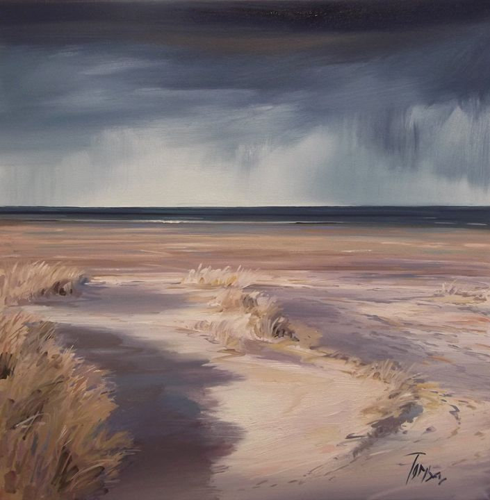 Findhorn beach - Tom Barron Artist