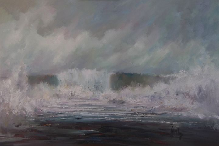 Wild summer shore - Tom Barron Artist