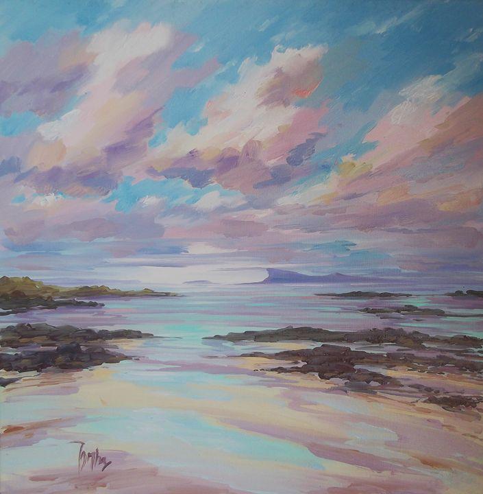 Eigg from Arisaig - Tom Barron Artist