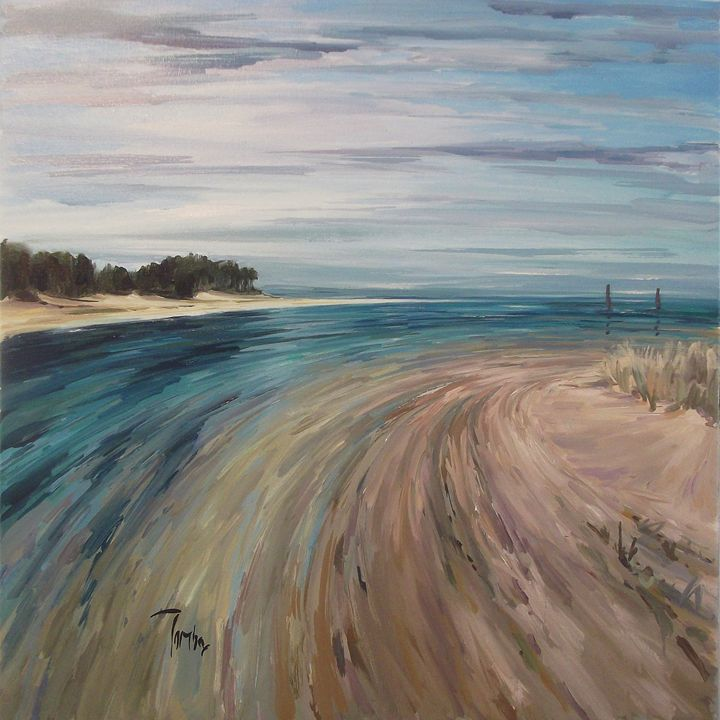 Across the Findhorn - Tom Barron Artist