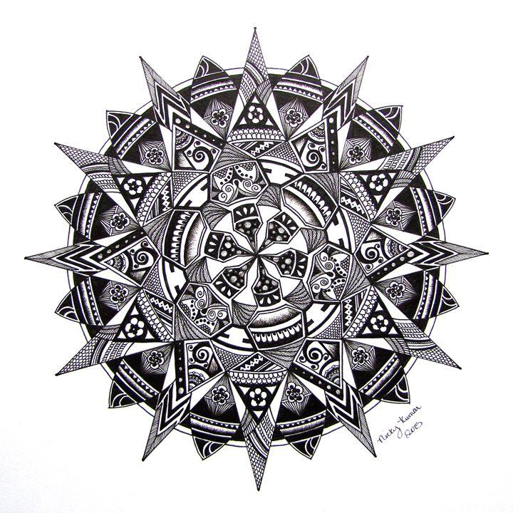 Points Mandala - Nicky's Mandalas