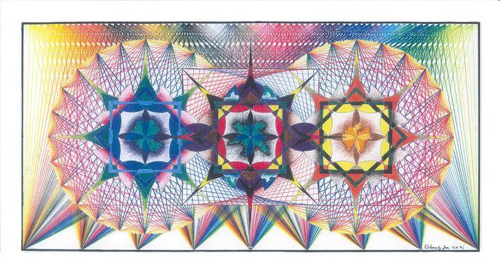 ink colored pencils, Mandala - R Schmutz