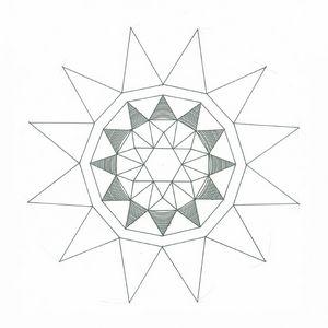 first steps, ink, Mandala