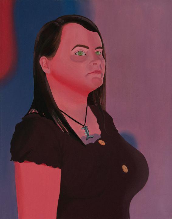 Pink Self Portrait - Sara Clark Art