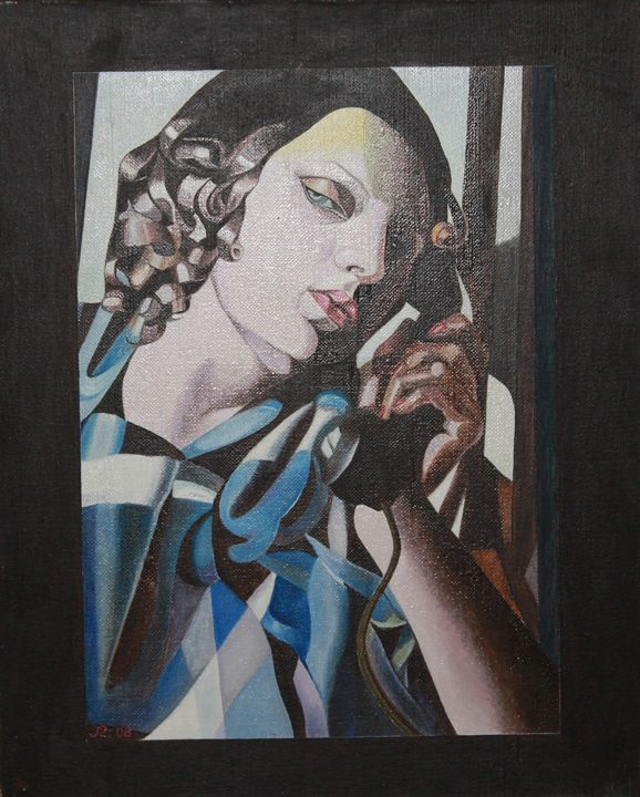 PORTRATE WITH A TELEPHONE - STOYCHO RUSINOV
