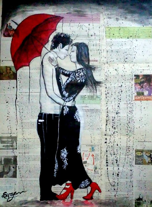 Rainy day love - Surya art