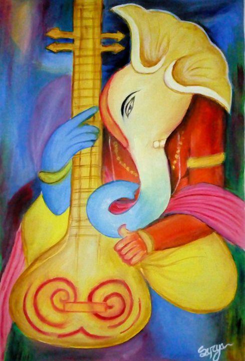 Lord ganesh - Surya art