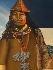 Woman from Peru - Fresh Canvas by Brenda Hance