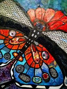 Mosaic Butterfly - Fresh Canvas by Brenda Hance