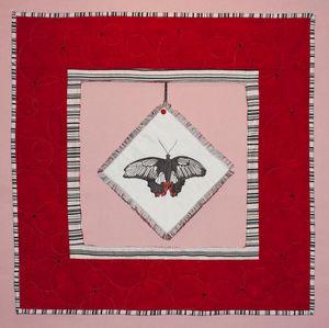 Scarlet Mormon Butterfly Art Quilt