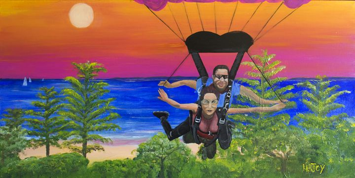 Skydiving Suttons Beach - Helen Joy