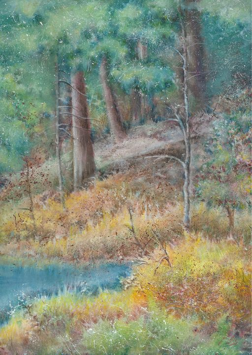 Autumn at Hidden Lake - Chick Artistic Creations