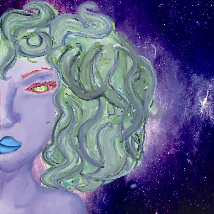 Curly Alien Woman - Lanika Morgan