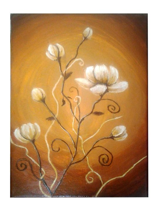 Decorative flowers - violeta art