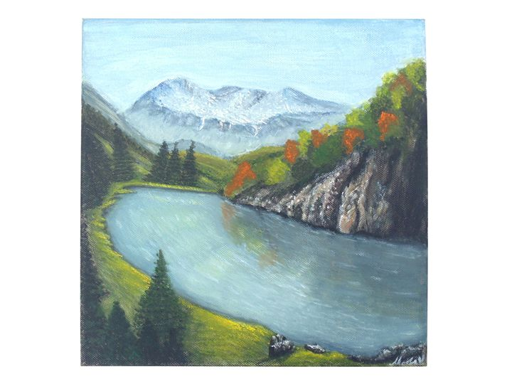 Mountain landscape - violeta art