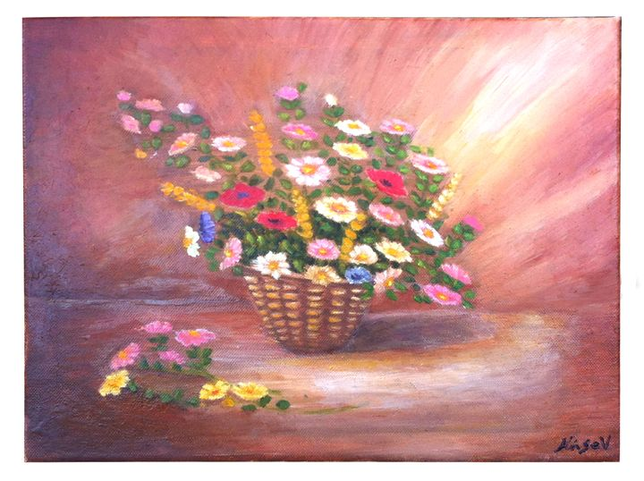 Wild flowers - violeta art