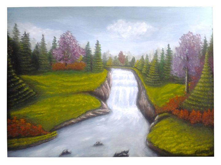 Spring landscape - violeta art