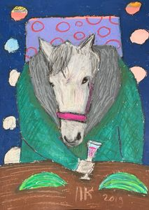 Drinking horse