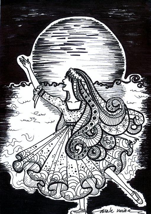 Shower of the Moonlight - Aisah Novita's Doodle Gallery