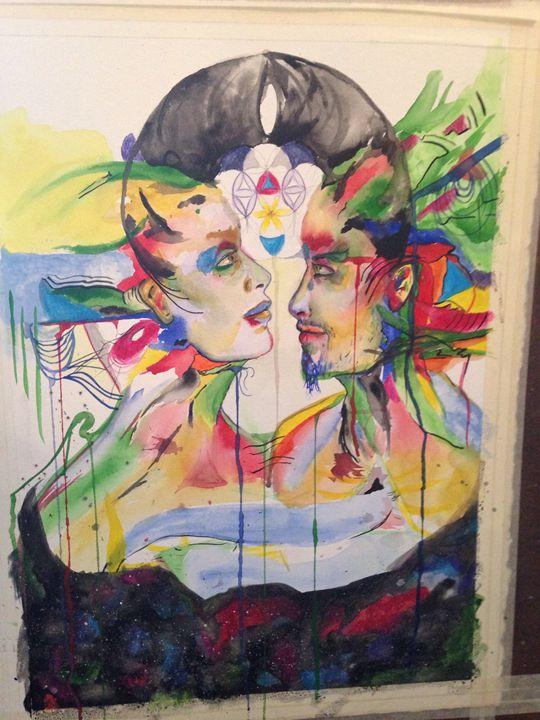 Universe in your eyes - LeeRea Painting