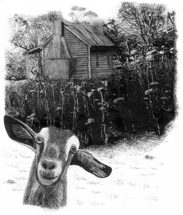 Goat And Cottage - Karu Design