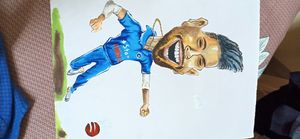 Hardik pandya's caricature.