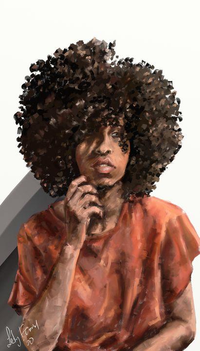 Funky Curls - Lesly Farran Art