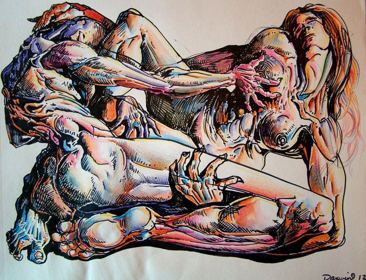 The lovers - Darwin Leon Fine Art