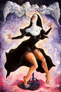 The ecstasy of mother liberation - Darwin Leon Fine Art
