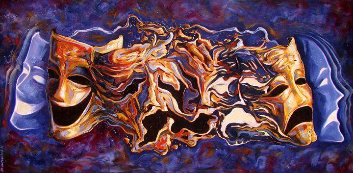The path of irony - Darwin Leon Fine Art