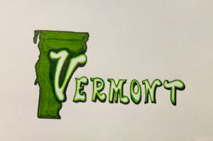 Vermont Cool Font with Color