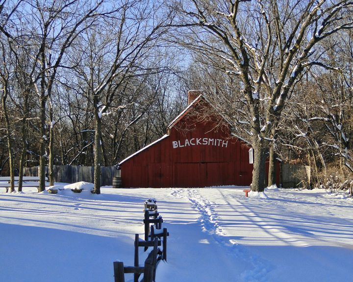 Blacksmith Shop in Winter - Ad Astra Images