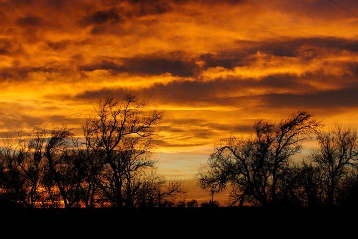 Western Kansas Sunset - Ad Astra Images