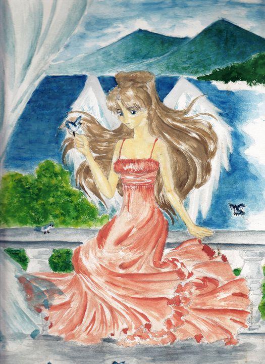Angel on the veranda - LuneDeThalassah