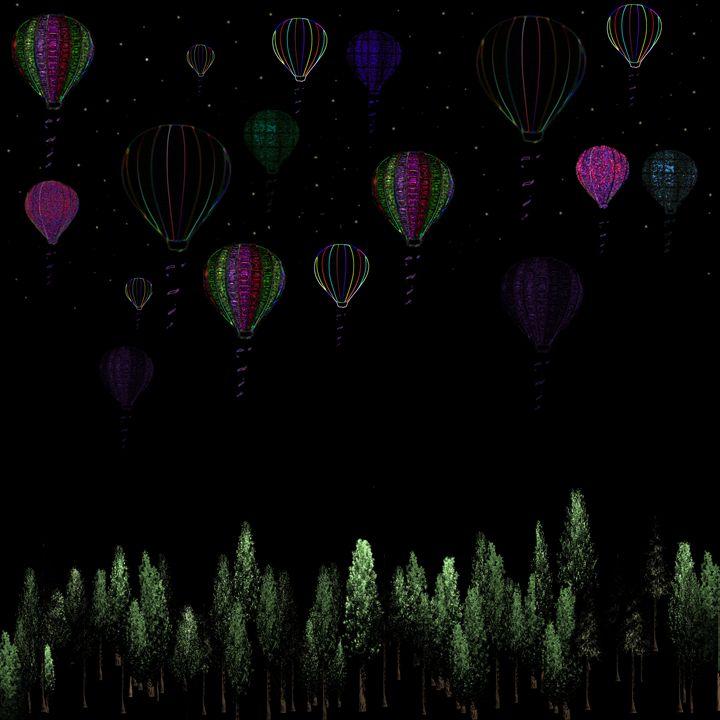 Balloons over the Forest - Sherry Elliott Pope
