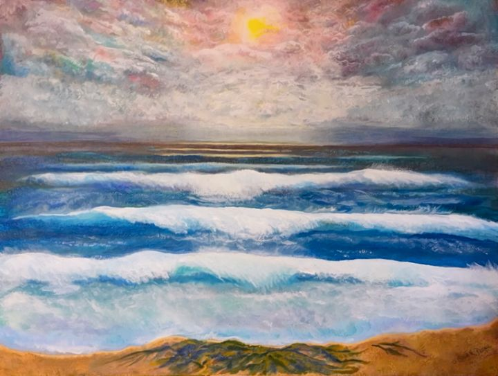 Crashing Waves on the Beach - Sherry Elliott Pope