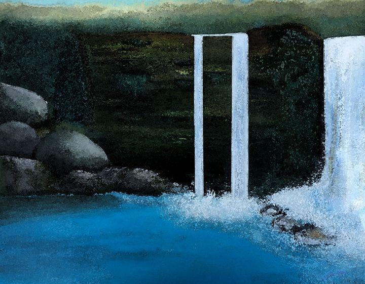 Waterfall in a Wood - Sherry Elliott Pope