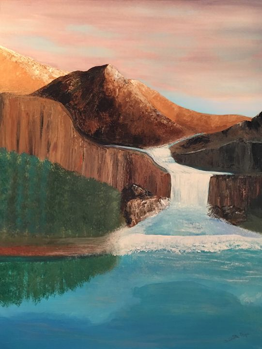 Waterfall in the Mountains - Sherry Elliott Pope
