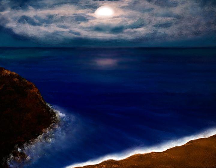 Moon over the Ocean - Sherry Elliott Pope