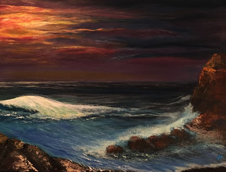Last Rays of Sun Upon the Beach - Sherry Elliott Pope