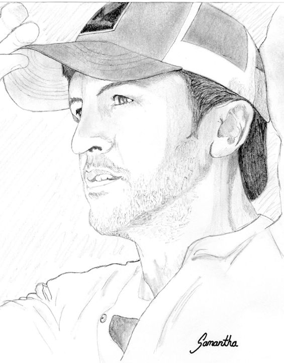 Luke Bryan Portrait - Emili K Productions Custom Pencil Drawings