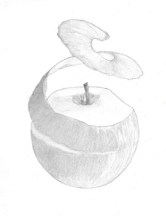 The Apple - Emili K Productions Custom Pencil Drawings